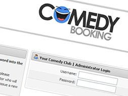 Comedy Booking Admin Login