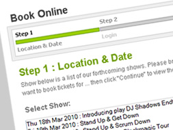 Online booking steps