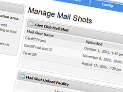 Manage Mail Shots